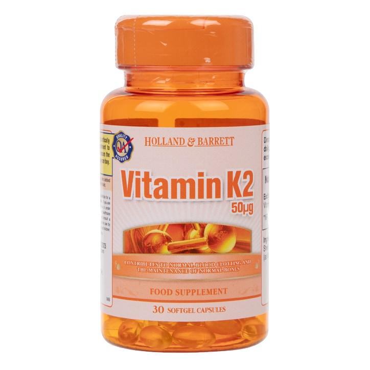 Holland & Barrett Vitamin K2 30 Capsules 50ug