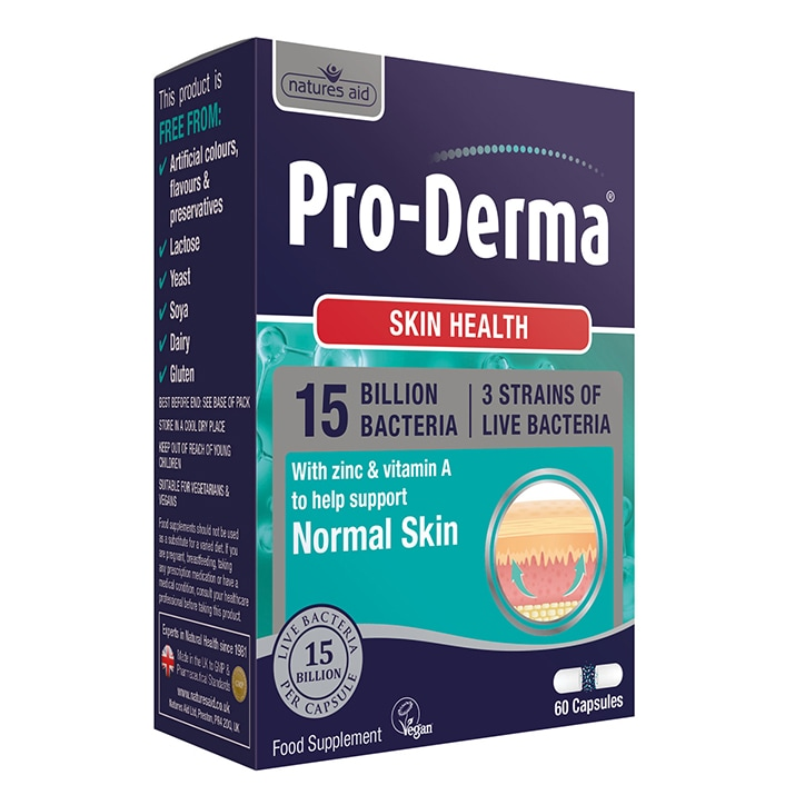 Nature's Aid Pro-Derma Skin Health (15 Billion Bacteria) 60 Capsules