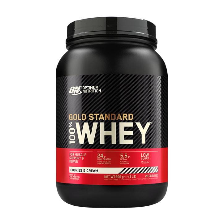 Optimum Nutrition Gold Standard 100 Whey Powder Cookies Cream 908g