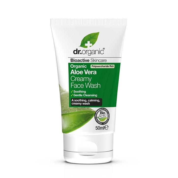 Dr Organic Aloe Vera Creamy Face Wash Travel Mini 50ml