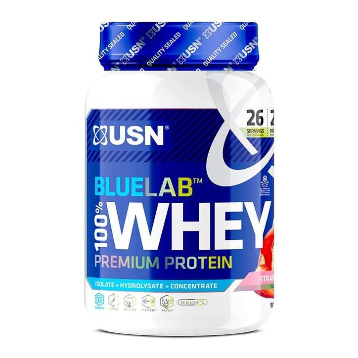 USN Blue Lab 100% Whey Strawberry 908g