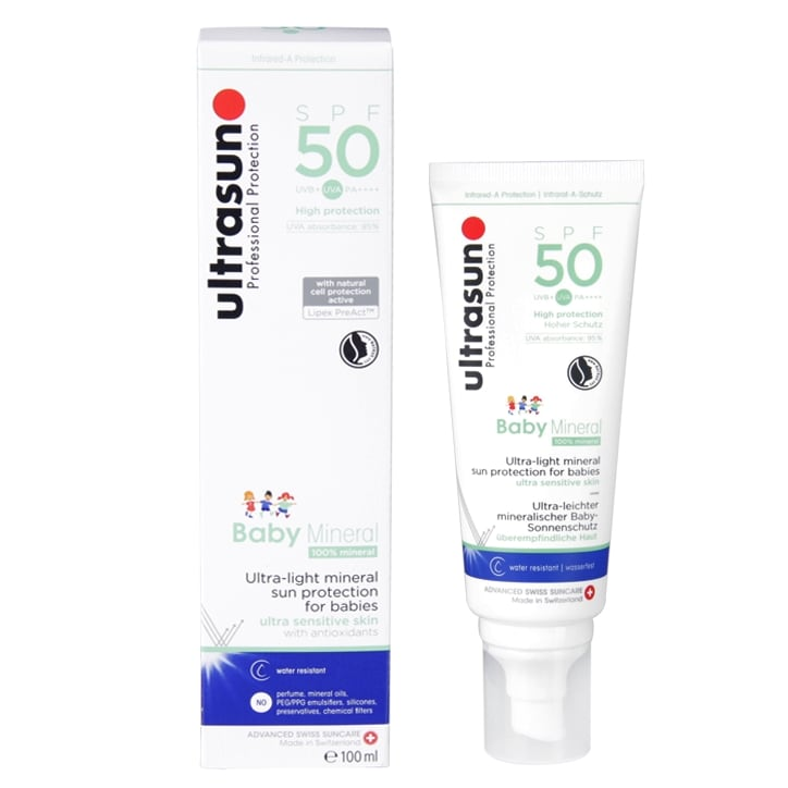 Ultrasun Baby Mineral Sunscreen SPF50 100ml