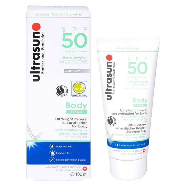 Ultrasun Body Mineral Sunscreen SPF50 100ml