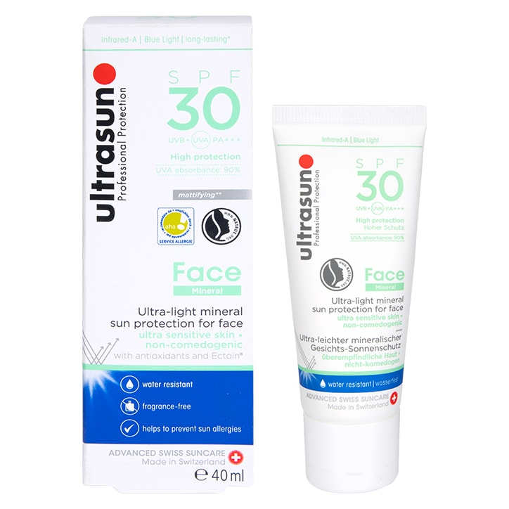 Ultrasun Face Mineral Sunscreen SPF30 40ml