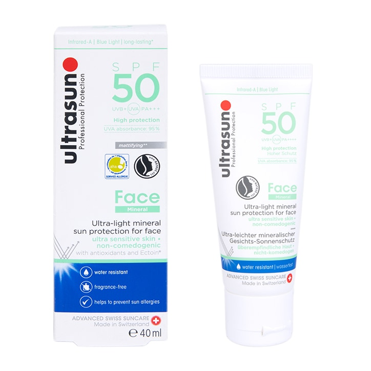 Ultrasun Face Mineral Sunscreen SPF50 40ml