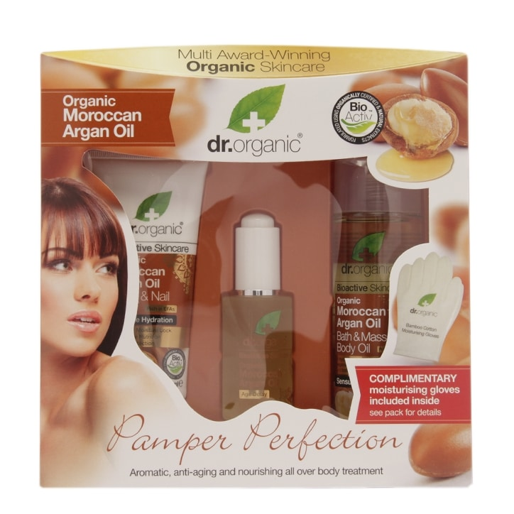 Dr Organic Moroccan Argan Oil Pamper Perfection Gift Set