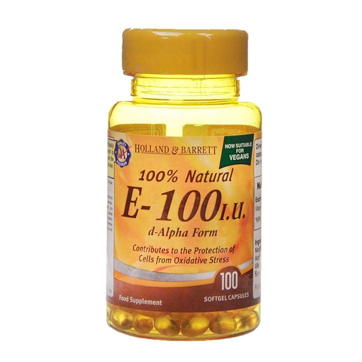 Holland & Barrett Vitamin E 100iu 100 Softgel Capsules