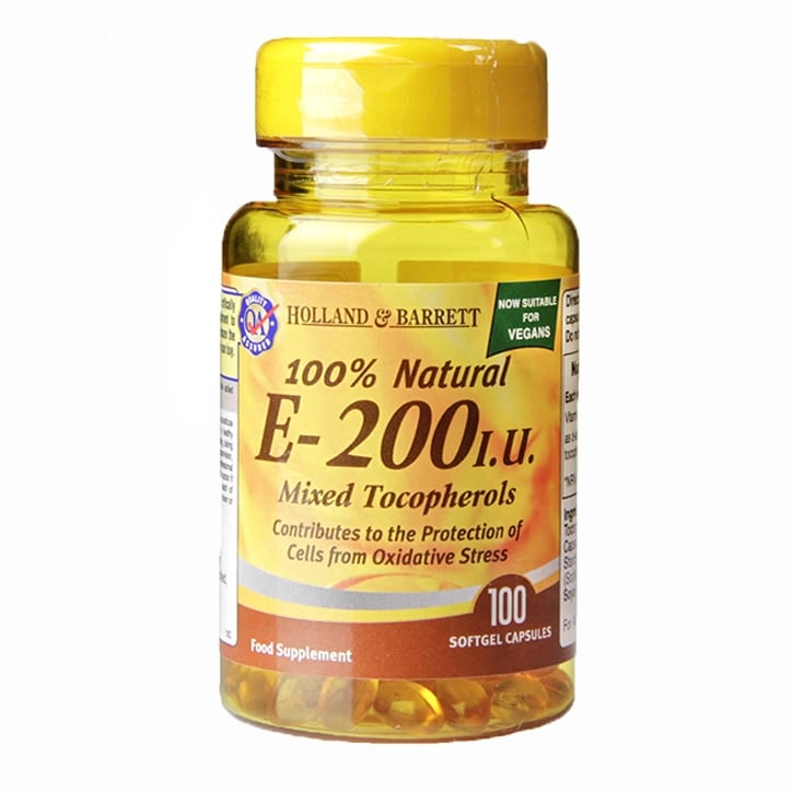 Holland & Barrett Vitamin E Complex 200iu 100 Softgel Capsules