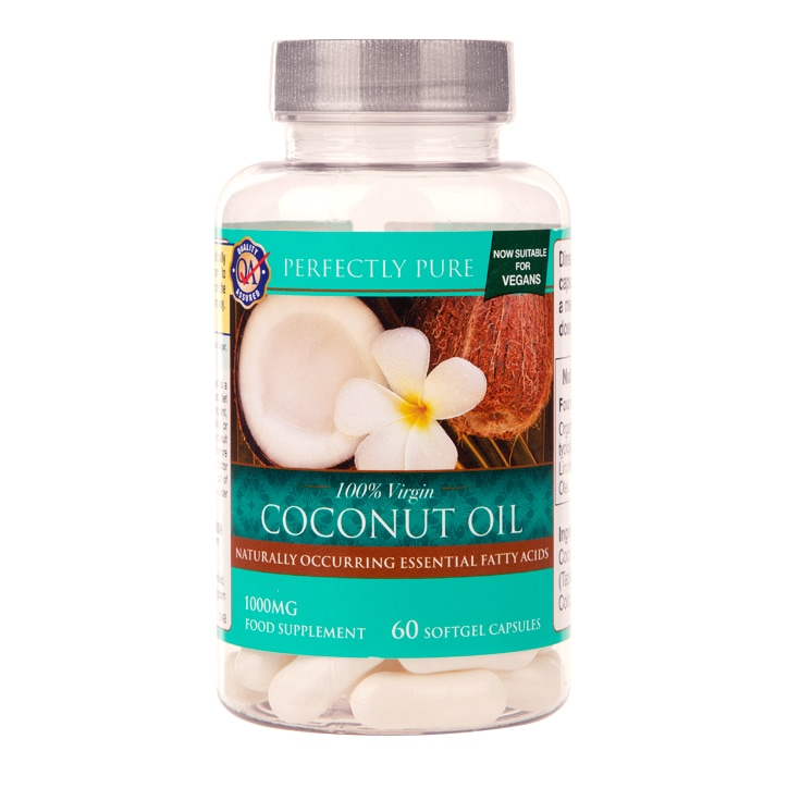 Perfectly Pure 100% Virgin Coconut Oil 1000mg 60 Softgel Capsules