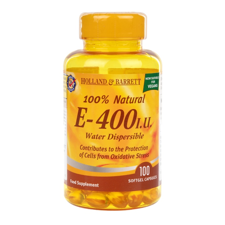 Holland & Barrett Water Dispersible Vitamin E 400iu 100 Softgel Capsules