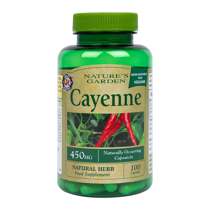 Nature's Garden Cayenne 100 Softgel Capsules 450mg