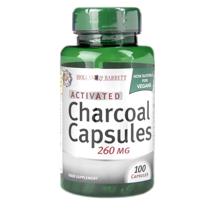 Holland & Barrett Activated Charcoal Capsules 260mg