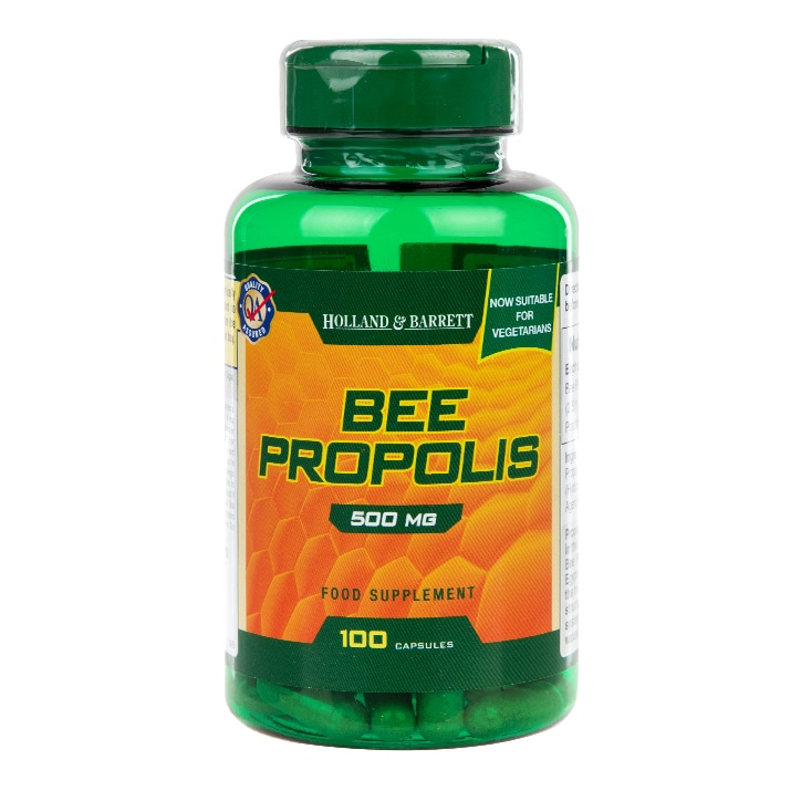 Holland & Barrett Natural Bee Propolis 500mg 100 Capsules