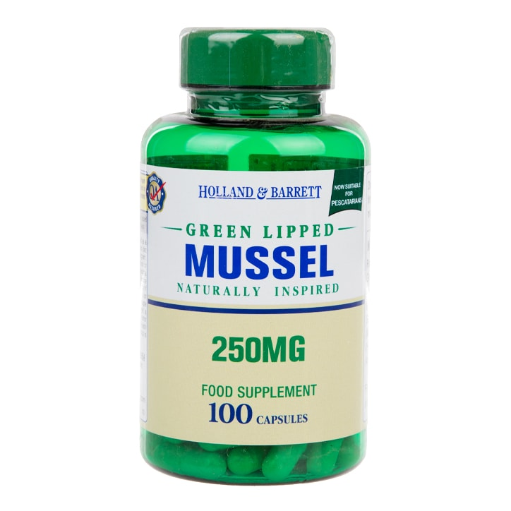 Holland & Barrett Green Lipped Mussel 250mg 100 capsules