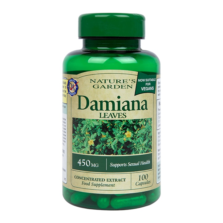 Nature's Garden Damiana Leaves Capsules 450mg 100 Capsules