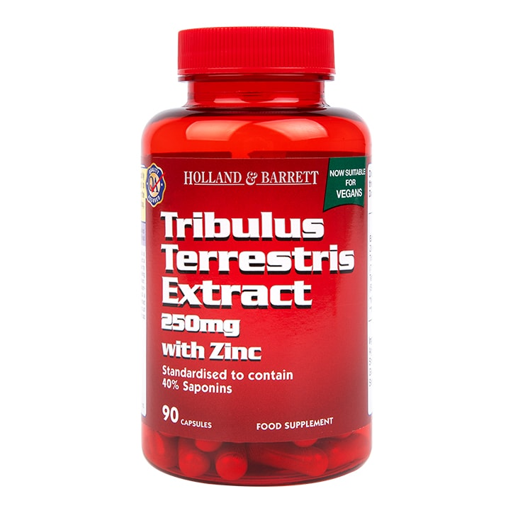 Holland & Barrett Tribulus Terrestris Extract with Zinc 250mg 90 Capsules