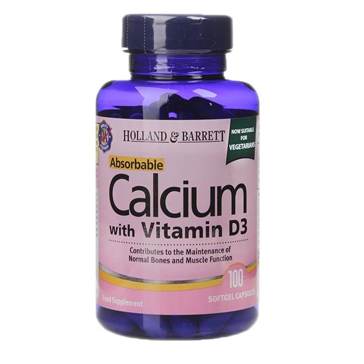 Holland & Barrett Calcium with Vitamin D3 100 Softgel Capsules