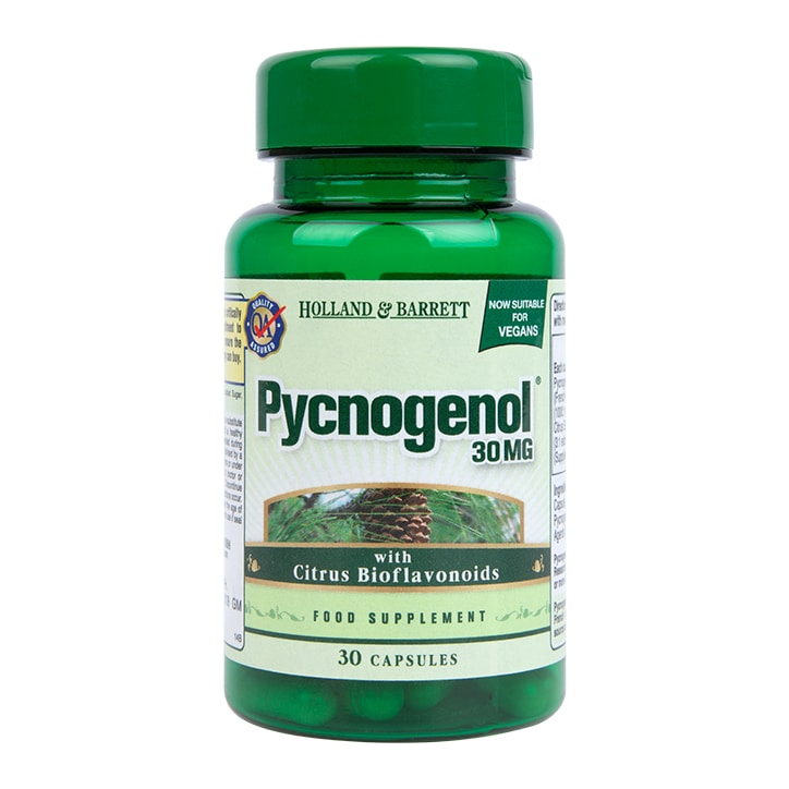 Holland & Barrett Pycnogenol 30 Capsules 30mg