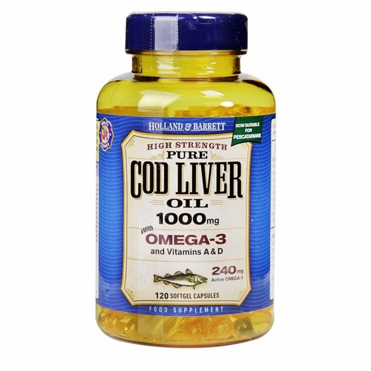 Holland & Barrett Cod Liver Oil 1000mg Softgel Capsules