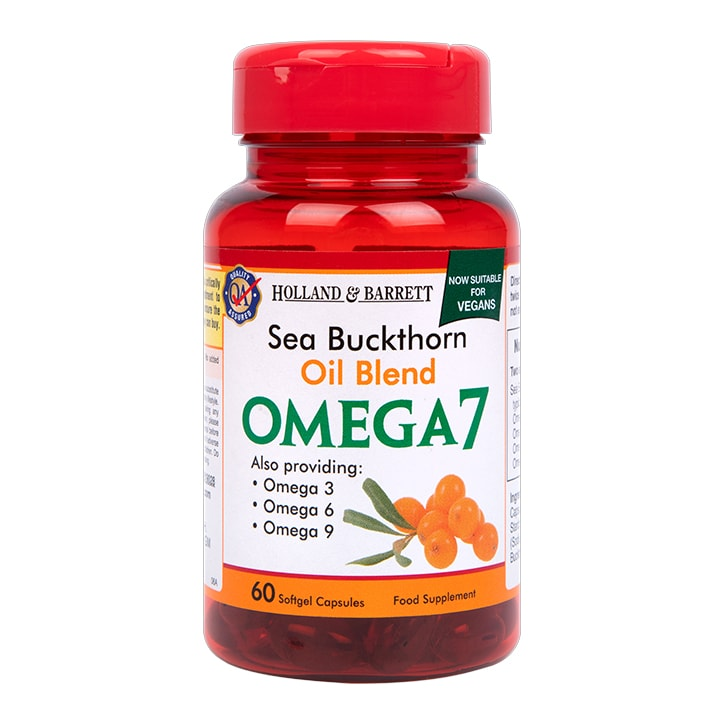 Holland & Barrett Sea Buckthorn Oil Blend Omega 7 Softgel Capsules