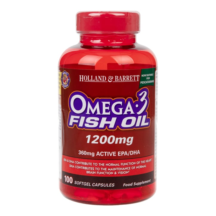 Holland & Barrett Omega 3 Fish Oil Capsules 1200mg