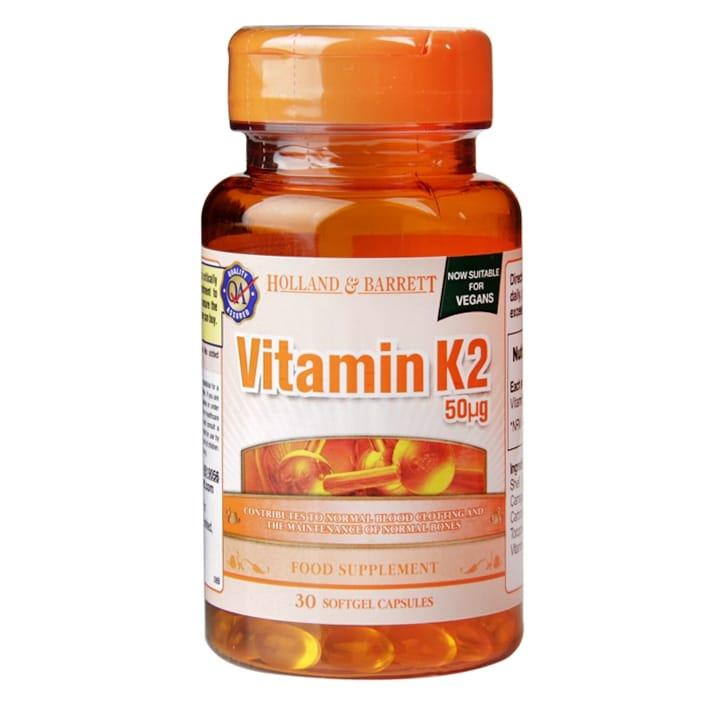 Holland & Barrett Vitamin K2 Capsules 50ug
