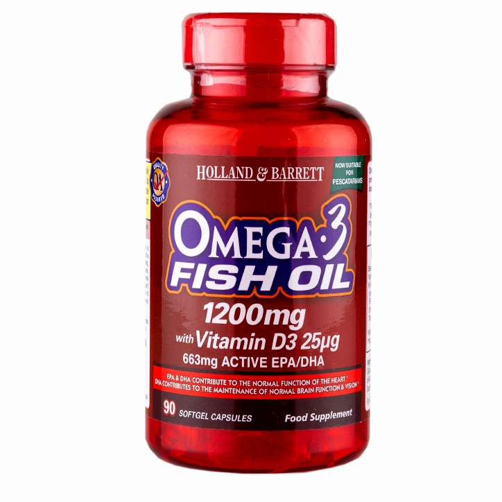 Holland & Barrett Omega 3 1200mg with Vitamin D3