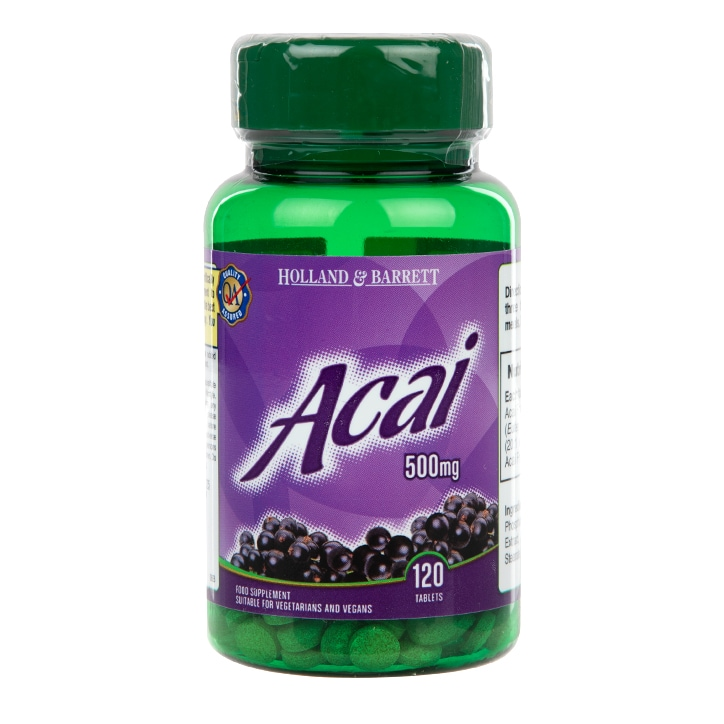 Holland & Barrett Acai Berry 120 Tablets 500mg