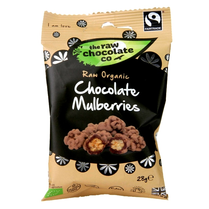 The Raw Chocolate Company Raw Chocolate Mulberries 28g