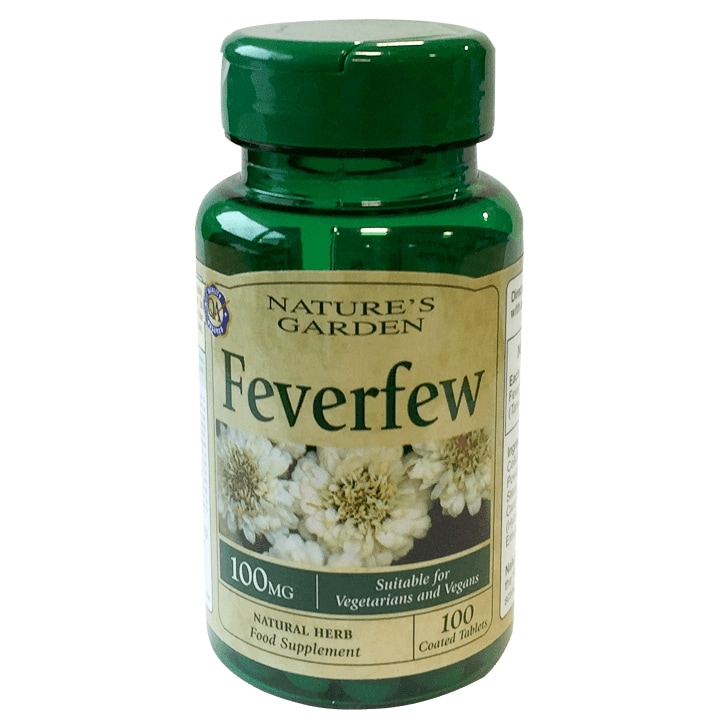 Nature's Garden Feverfew 100mg 100 Tablets
