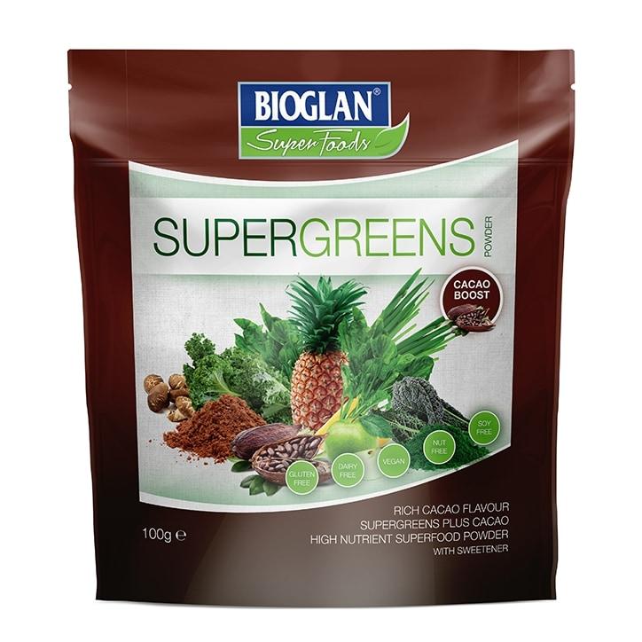 Bioglan Superfoods Supergreens Cacao Powder 100g