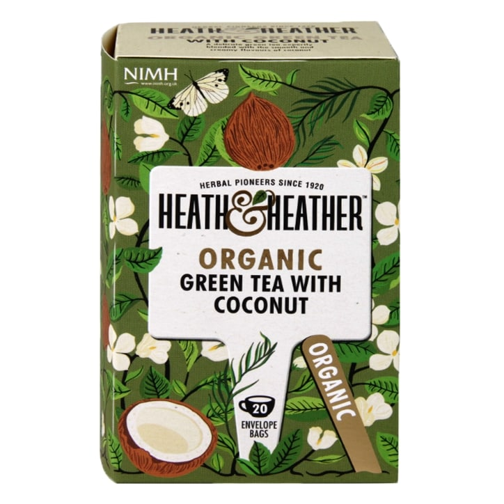 Heath & Heather Organic Green Tea with Coconut