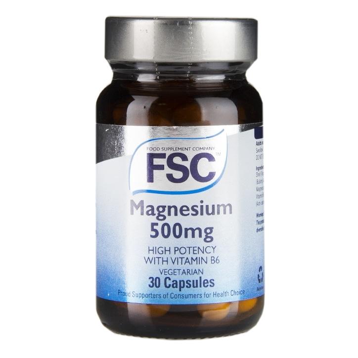 FSC High Potency Magnesium 500 with Vitamin B6 30 Vegi Capsules