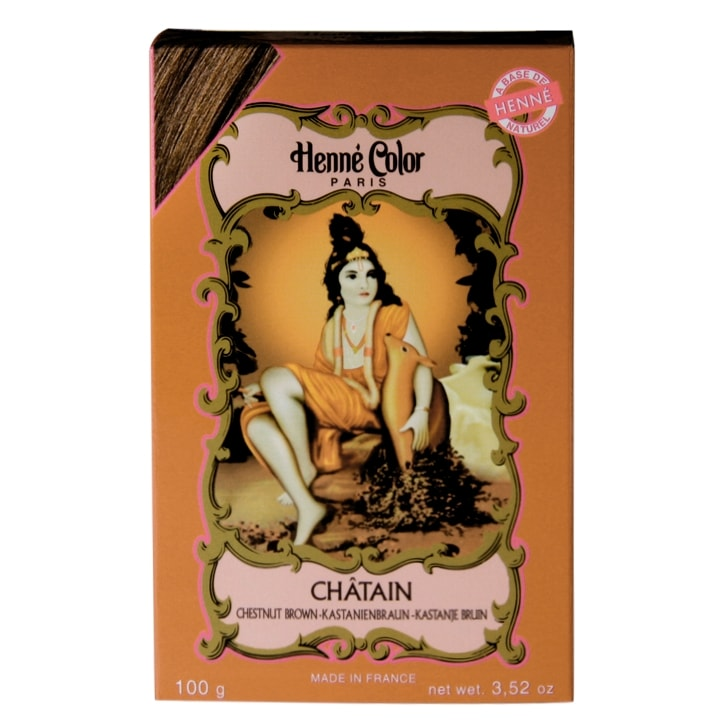 Henne Color Henna Powder Hair Colour Chestnut Brown 100g