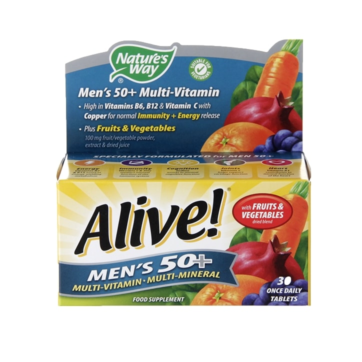 Nature's Way Alive! Men's 50+ Multi-Vitamin Tablets