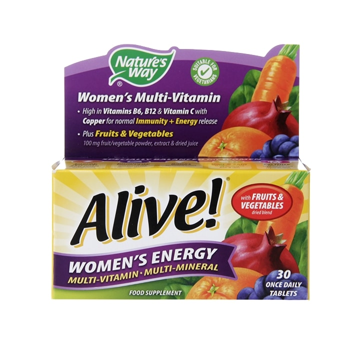 Nature's Way Alive! Women's Energy Multi-Vitamin 30 Tablets