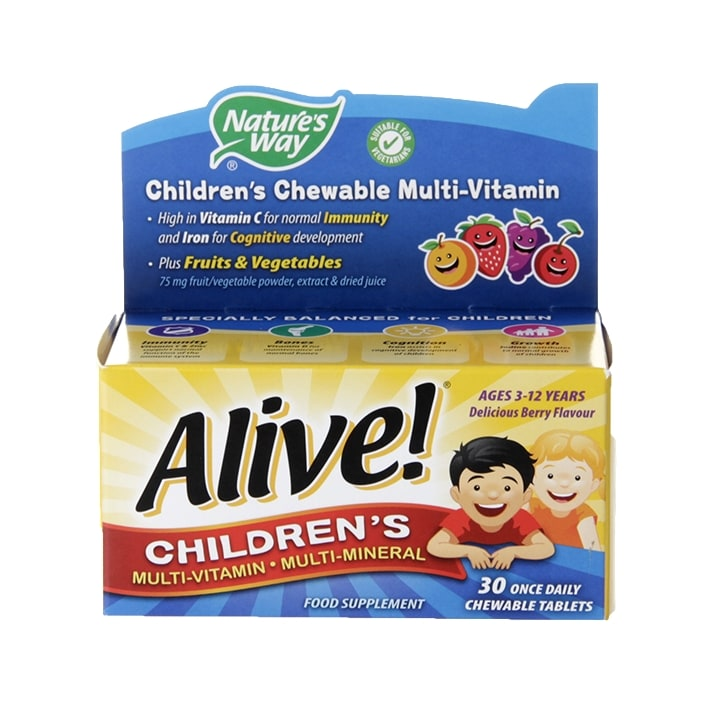 Nature's Way Alive! Children's Chewable Multi-Vitamin 30 Tablets