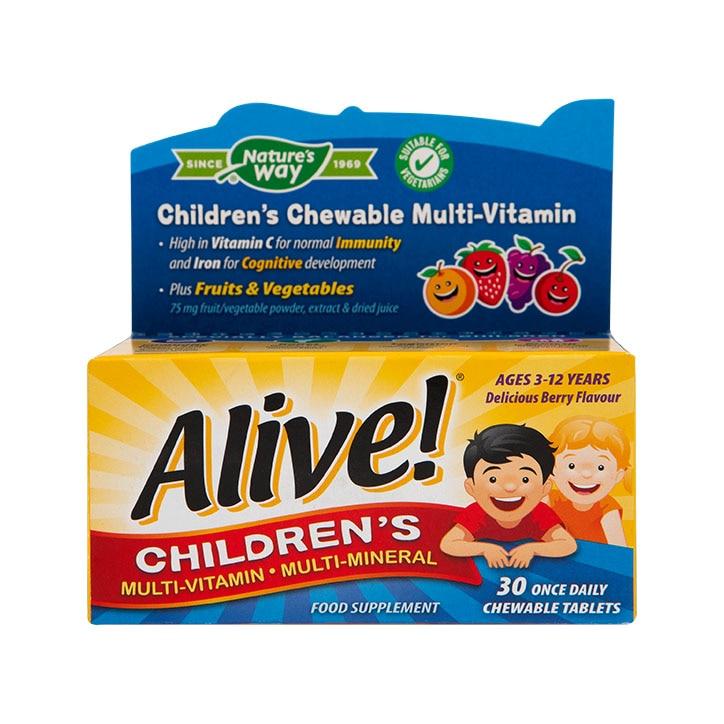 Nature's Way Alive! Children's Chewable Multi-Vitamin Tablets