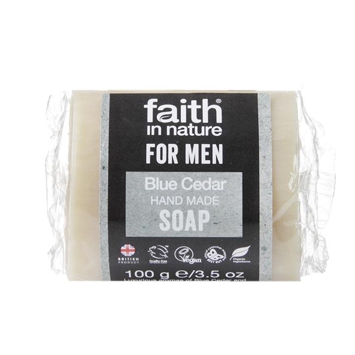 Faith in Nature for Men Blue Cedar Soap