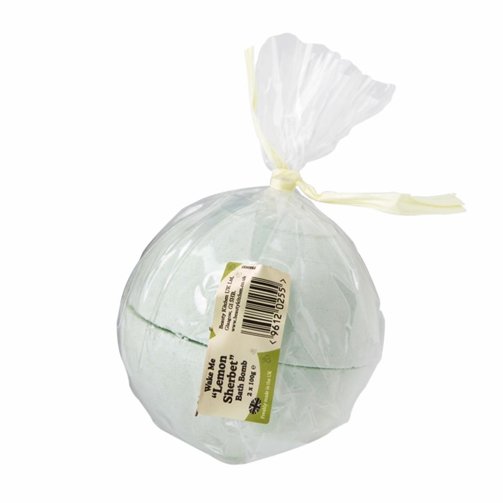 Beauty Kitchen Wake Me Lemon Sherbet Bath Bomb 2 x 100g Halves