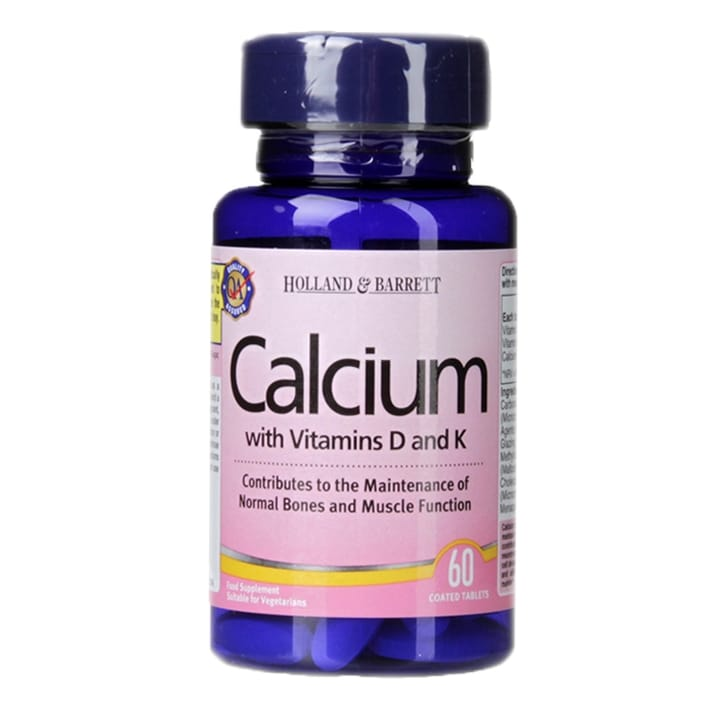 Holland & Barrett Calcium with Vitamins D and K 60 Tablets