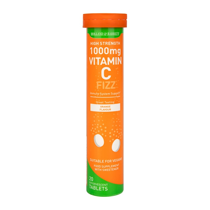 Holland & Barrett Effervescent Vitamin C High Strength 20 Tablets 1000mg
