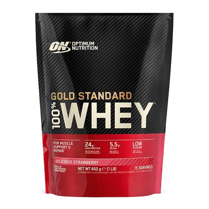 Optimum Nutrition Gold Standard 100% Whey Powder Strawberry 450g
