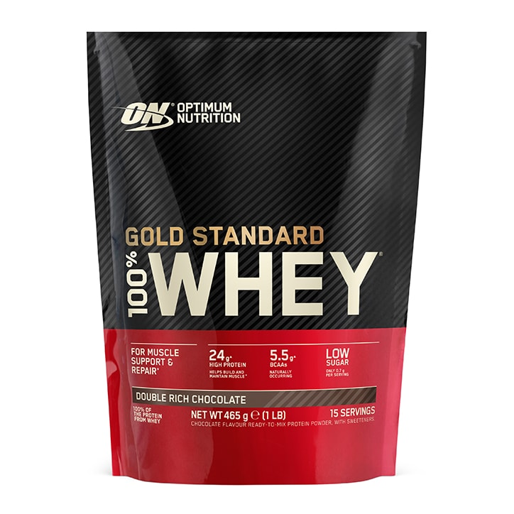 Optimum Nutrition Gold Standard 100% Whey Powder Double Rich Chocolate 450g