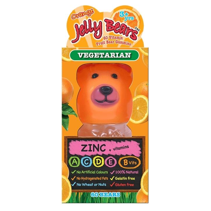 Jelly Bears Zinc Orange Fruit Bear 60 Chewables