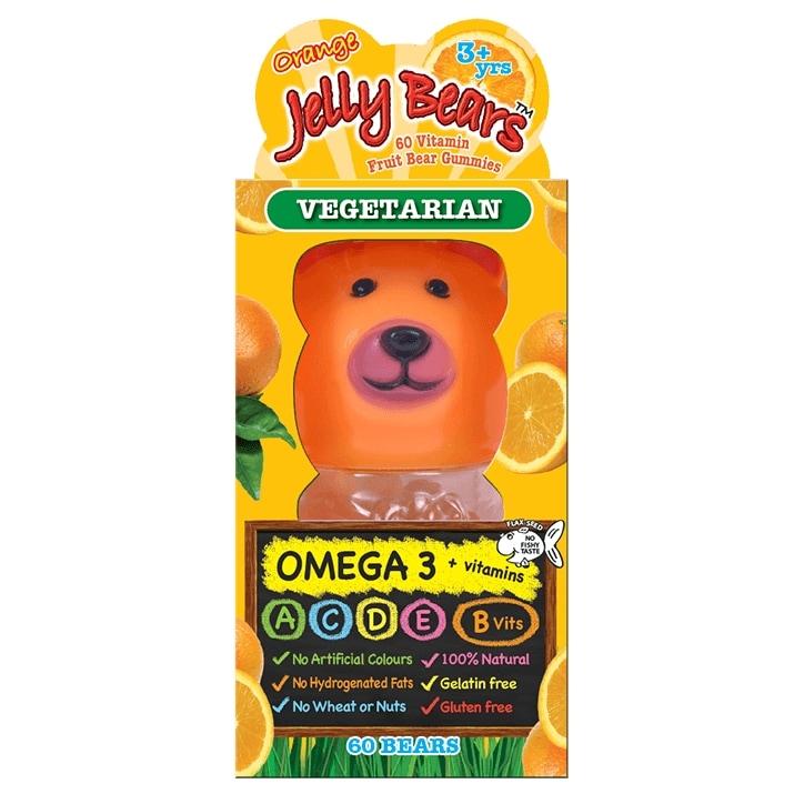 Jelly Bears Omega 3 Orange Fruit Bear 60 Chewables
