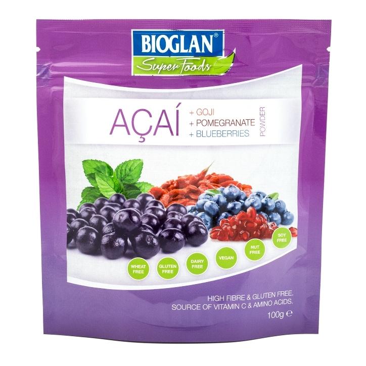 Bioglan Superfoods Acai Powder with Goji, Pomegranate & Blueberries 100g