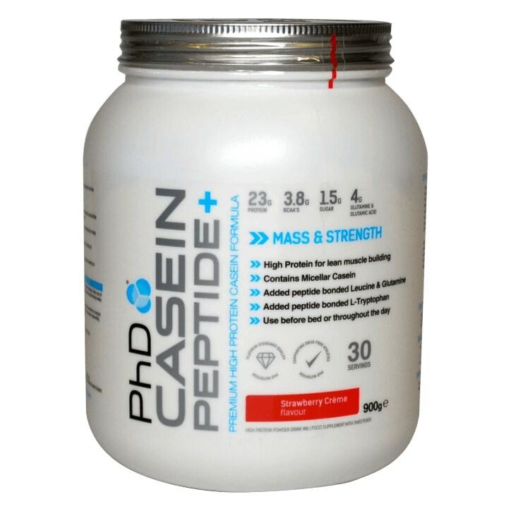 PhD Casein Peptide Strawberry Creme  900g Powder