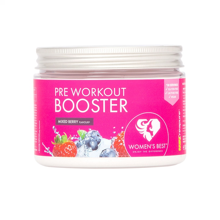 Women's Best Pre Workout Booster Mixed Berry 300g