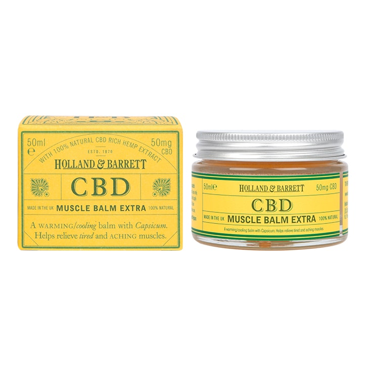 Holland & Barrett CBD Muscle Balm Extra 50ml